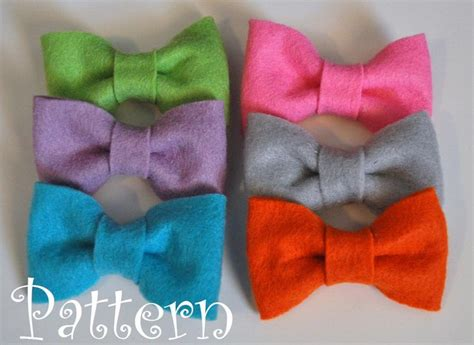 felt bow tie template felt bow tie pattern tutorial with printable templates 3