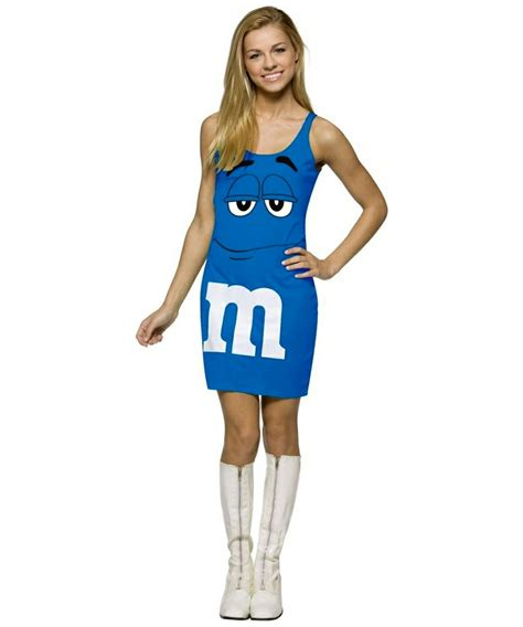 mm tween girls m and m blue tank dress costume teen costume teenager