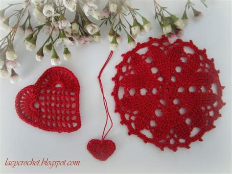 lacy crochet valentine s day crochet projects