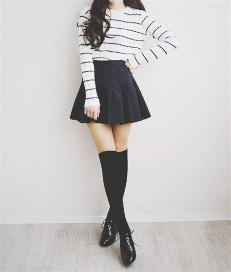 Boy Set Korean Style 200 White Black And White Clothes Clothing Fashion Girly