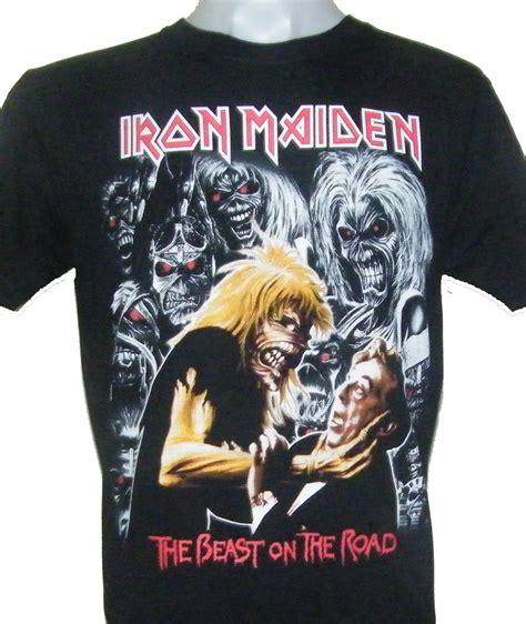 T Shirt The Iron iron maiden t shirt the beast on the road size l roxxbkk