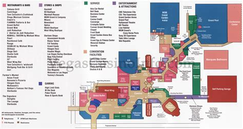 mgm grand las vegas floor plan las vegas casino property maps and floor plans