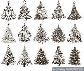 Christmas christmas tree patterns style christmas tree pattern