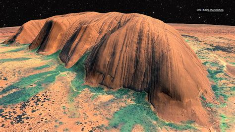 uluru ayers rock australia  model  drones imaging