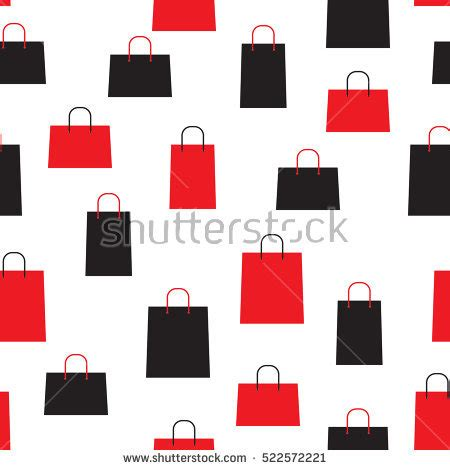 seamless pattern with shopping icons shopping bag icons set sale seamless stock vector