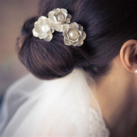 Wedding Hairstyles Low Bun With Veil by Bridal Hairstyles Low Bun With Veil Www Imgkid The