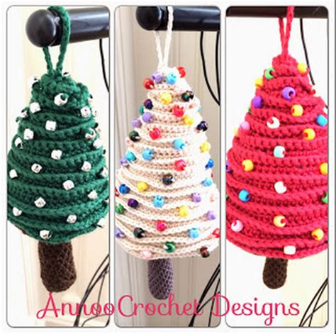 christmas tree crochet ornaments free pattern