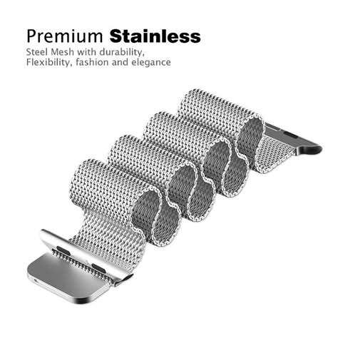 Luxury Milanese Stainless Steel Watchband For Apple Wat Diskon 1 milanese watchband untuk apple 38mm series 1 2 3