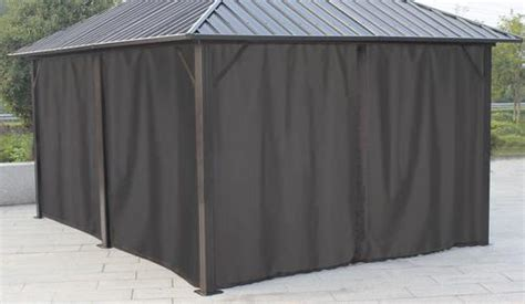 Privacy Curtains For Gazebo by 12x16 Steel Roof Gazebo Privacy Curtains At Menards 174