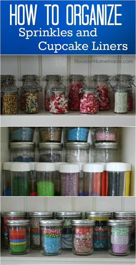 How To Keep Kitchen Clean And Organized by How To Organize Sprinkles Hoosier