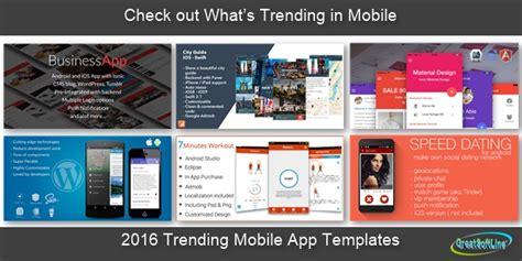 Mobile App Development 2016 Trending Mobile App Templates Greatsoftline Com Mobile Dating App Template