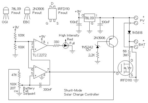 solar battery charge controller circuit diagram controller of solar charger wiring diagram schematic