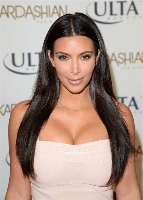 kim kardashian long straight cut kim kardashian long
