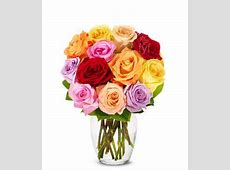 One Dozen Rainbow Roses at From You Flowers Gift Baskets Delivered Today