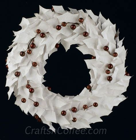 Paper Wreaths To Make - 17 best images about white on