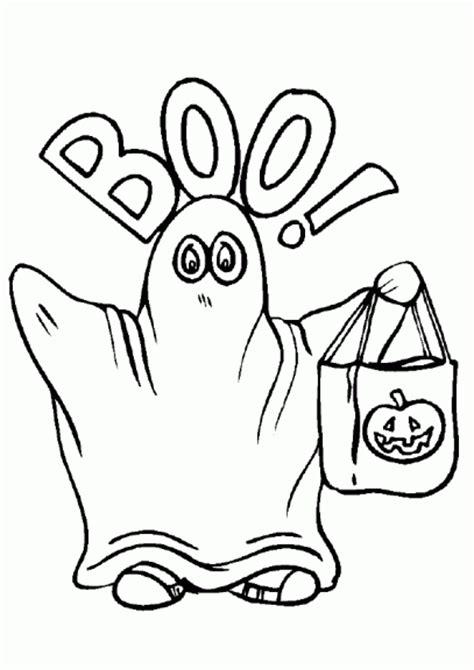 Coloriage fantôme Halloween à imprimer et colorier