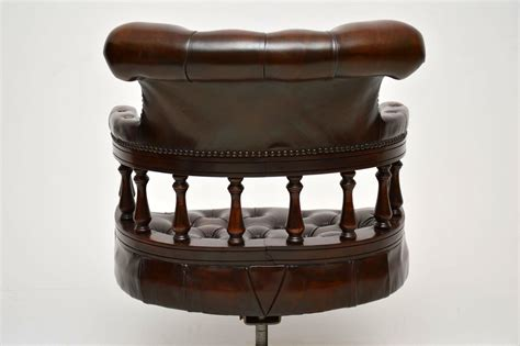 antique swivel desk chair antique leather swivel desk chair marylebone antiques