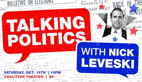 talking sense about politics how to overcome political polarization in your next conversation books talking politics with nick leveski coalition theater