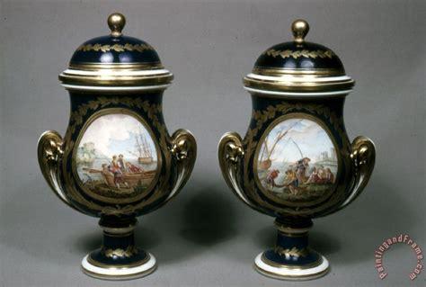 Pair Of Vase by Porcelain Vase Pair Of Vases With Harbor Painting