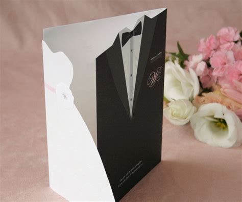 wedding scroll dress and tux card template 100 sets custom and groom wedding invitations dress