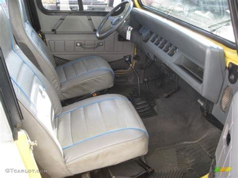 jeep wrangler grey interior 1989 malibu yellow jeep wrangler islander 4x4 60506493