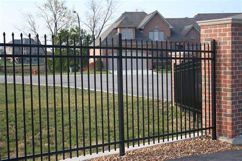 metal fence ameristar welded steel fence panels fence depot