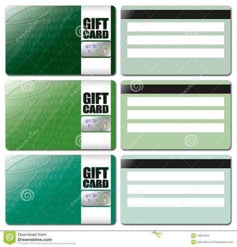 gift card image template gift card template set 4 stock illustration image of