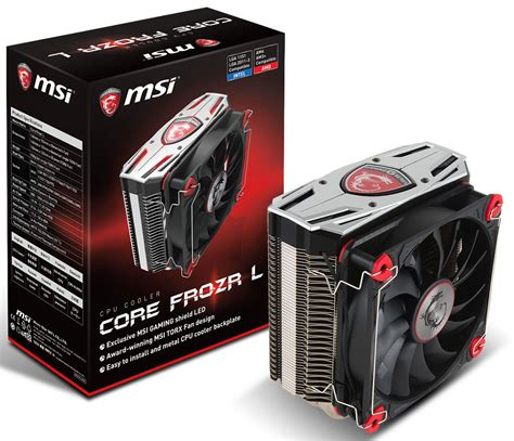 cpu fan for sale msi gaming core frozr l cpu cooler goes on sale