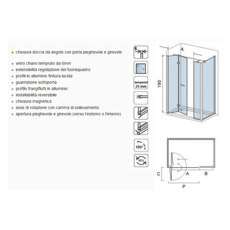 porta doccia girevole osb box doccia con porta girevole anta fissa e parete