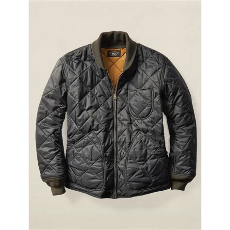 Quilted Jacket Liner by Rrl Quilted Liner Jacket In Black For Lyst