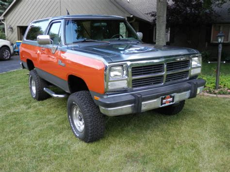how to sell used cars 1992 dodge ramcharger parental controls dodge ramcharger suv 1992 orange for sale 3b4gm17y8nm572102 1992 dodge ramcharger v8 440 4x4