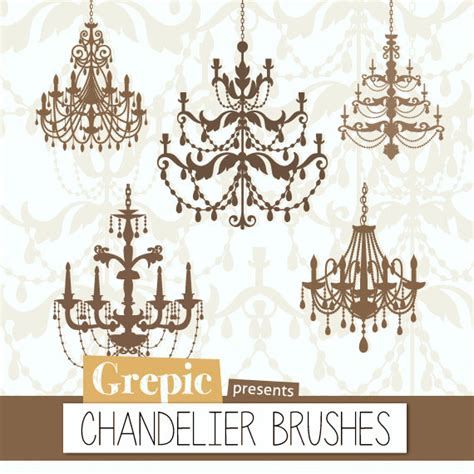 photoshop brush chandeliers chandelier brushes 5 high