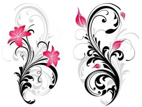 lily swirl tattoo designs swirl and pink stargazer picture
