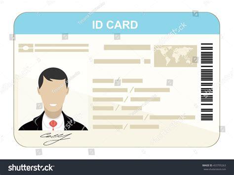 id card flat design id card flat design style stock vector 453755263