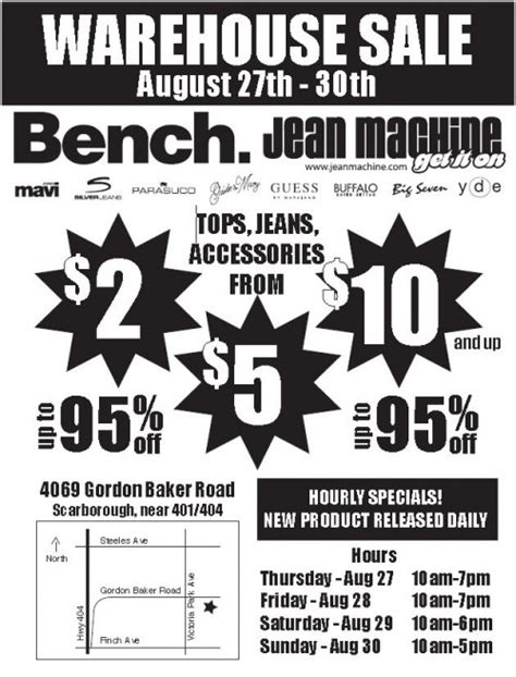 bench warehouse sale canadian deals bench jean machine warehouse sale aug