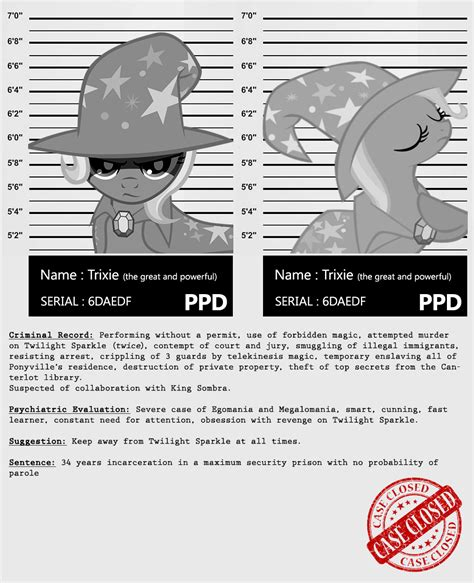 Criminal Record My My Criminal Records Trixie By Dan232323 On Deviantart