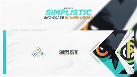banner design with photoshop tutorial photoshop tutorial simplistic showcase banner design