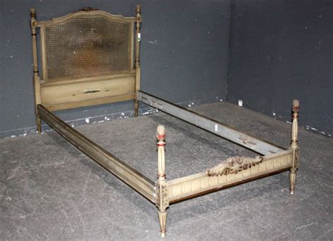 antique twin beds for sale french louis xvi cane painted twin size bed j4197 for sale