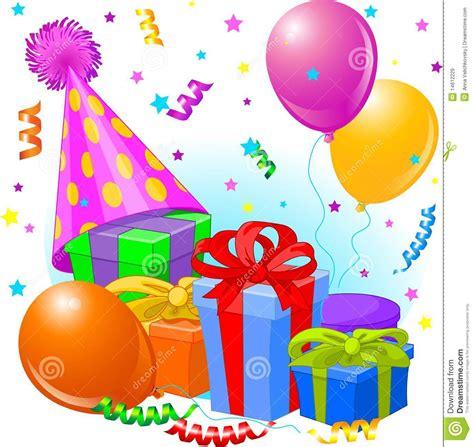 imagenes de cumpleaños fiesta regalos y decoraci 243 n de cumplea 241 os ilustraci 243 n del vector
