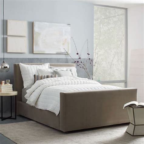 west elm beds urban bed luxe velvet west elm