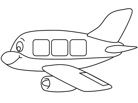 Alat Cat Pintar Facil dibujos de aviones para colorear e imprimir gratis