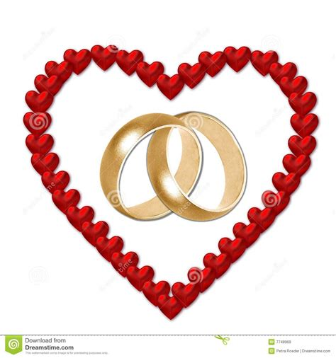 Wedding Rings With Hearts by Wedding Rings In Royalty Free Stock Images Image