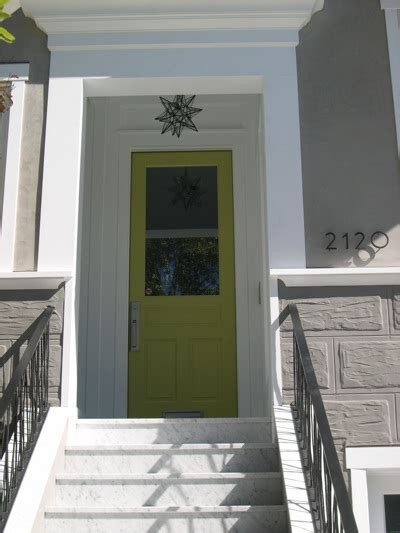 lime green front door building green in vermont front door color