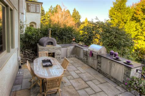 outdoor kitchen designs with pizza oven outdoor kitchen pizza oven mediterranean landscape