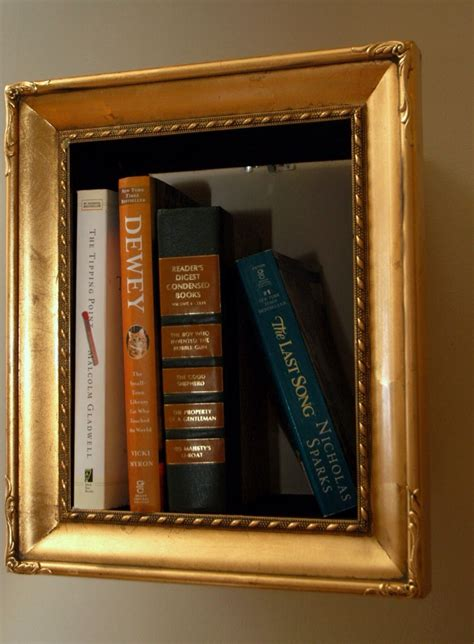 old picture frame made into a shadowbox shelves trusper
