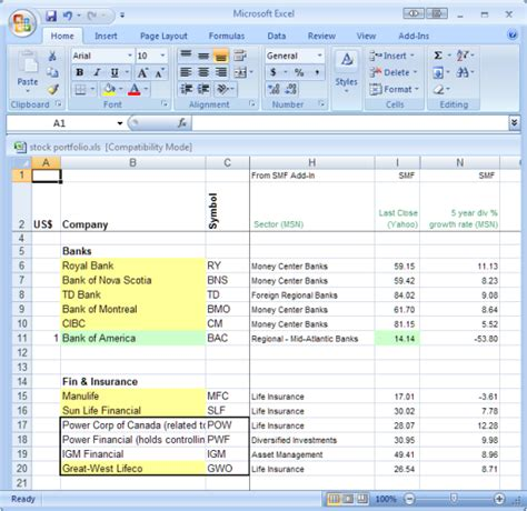 Stock Portfolio Spreadsheet Excel by Stock Portfolio Excel Toreto Co
