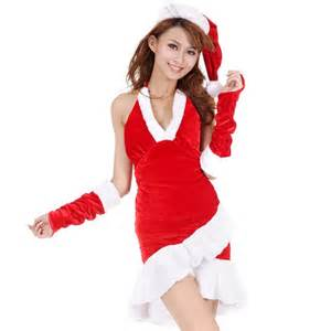 Ladies sexy costume with gat gloves women christmas cosplay costume
