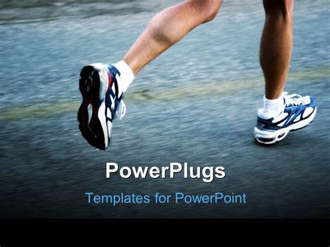 Powerpoint Template Feet Of A Running Man Wearing Running Shoes 25520 Running Powerpoint Template