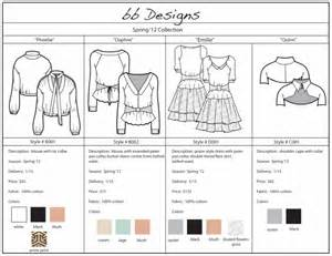 Clothing Line Sheet Template by Bee Borromeo Line Sheets