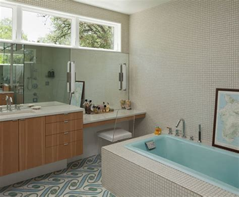Mid Century Modern Bathroom Tile Mid Century Bathroom Tile Mid Century Modern Ranch Home